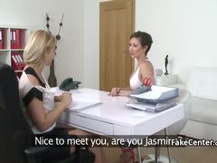 Lesbian milf on casting interview