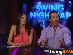 Reality show casting with horny swinger couples