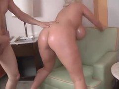 Busty Cougar gets assfucked
