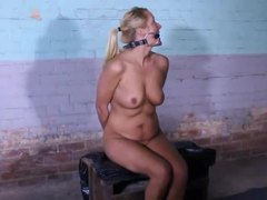 Blonde slut dominated by her master